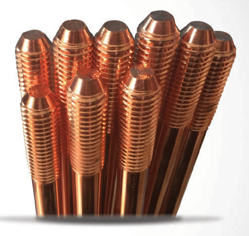 Threaded Copperbond Earth Rods